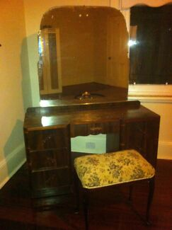 Vintage Dressing Table & Upholstered Seat Northbridge Perth City Preview