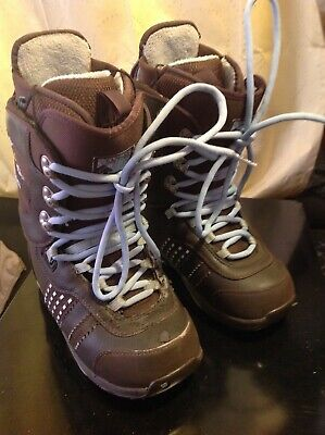 Brown Burton Sapphire Women's traditional Lacing Snowboard Boots size 7