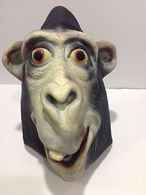 Chimpanzee Mask (Ape Chimpanzee Gorilla Full Head Mask Halloween Costume Latex See Thru)