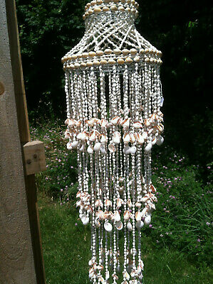 Chandelier 3 Layersl Sea Shell Hanging Design in Beige and (Sea Shell Design)