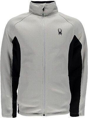585f0bcde00 NEW Spyder Constant Full Zip Stryke Jacket Sweater Cirrus Gray   Black Size  M