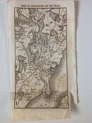 Chepstow Banks of the Wye c1829 original Antique Map, Rare, Monmouthshire, Wales