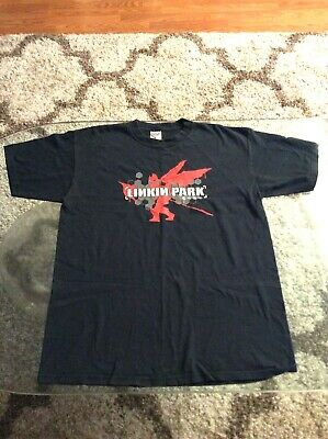 Linkin Park Hybrid Theory 2-Sided Black Shirt Adult Large Vintage