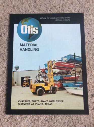 1970s Otis  forklift  original factory printed sales information