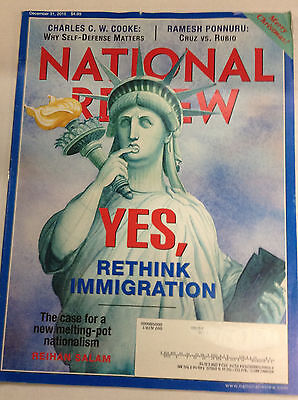National Review Magazine Rethink Immigration December 31  2015 050317Nonr