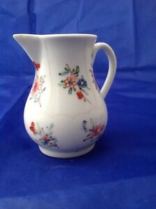 CURIOUS 18thC WORCESTER CHINESE FLOWERS QUEENS JUG GILES WORKSHOP c1768 CAUGHLEY