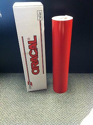 Oracal 651 1 Roll 24x50yd150ft Red Gloss Sign Vinyl