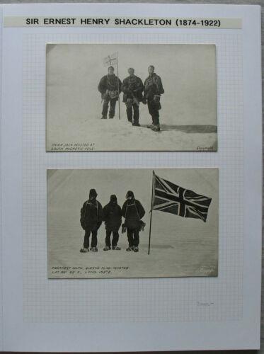 S2078) Ernest H Shackleton Autograph +3 Picture post Cards Ex Collection Ledoux