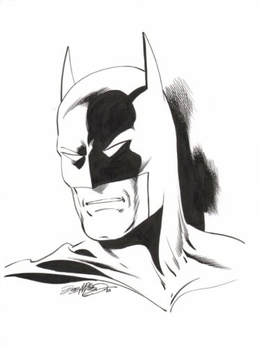 Bob McLeod Signed Original DC Comics JLA Art Sketch ~ Batman The Dark Knight