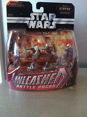 STAR WARS UNLEASHED BATTLE PACKS UTAPAU WARRIORS SET OF 4 HASBRO 2005