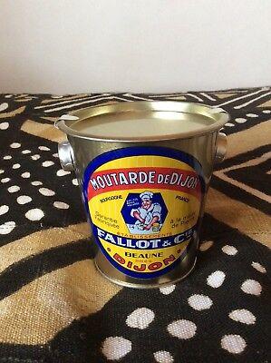 Collectible Mustard Tin: Moutarde de Dijon by Edmond Fallot