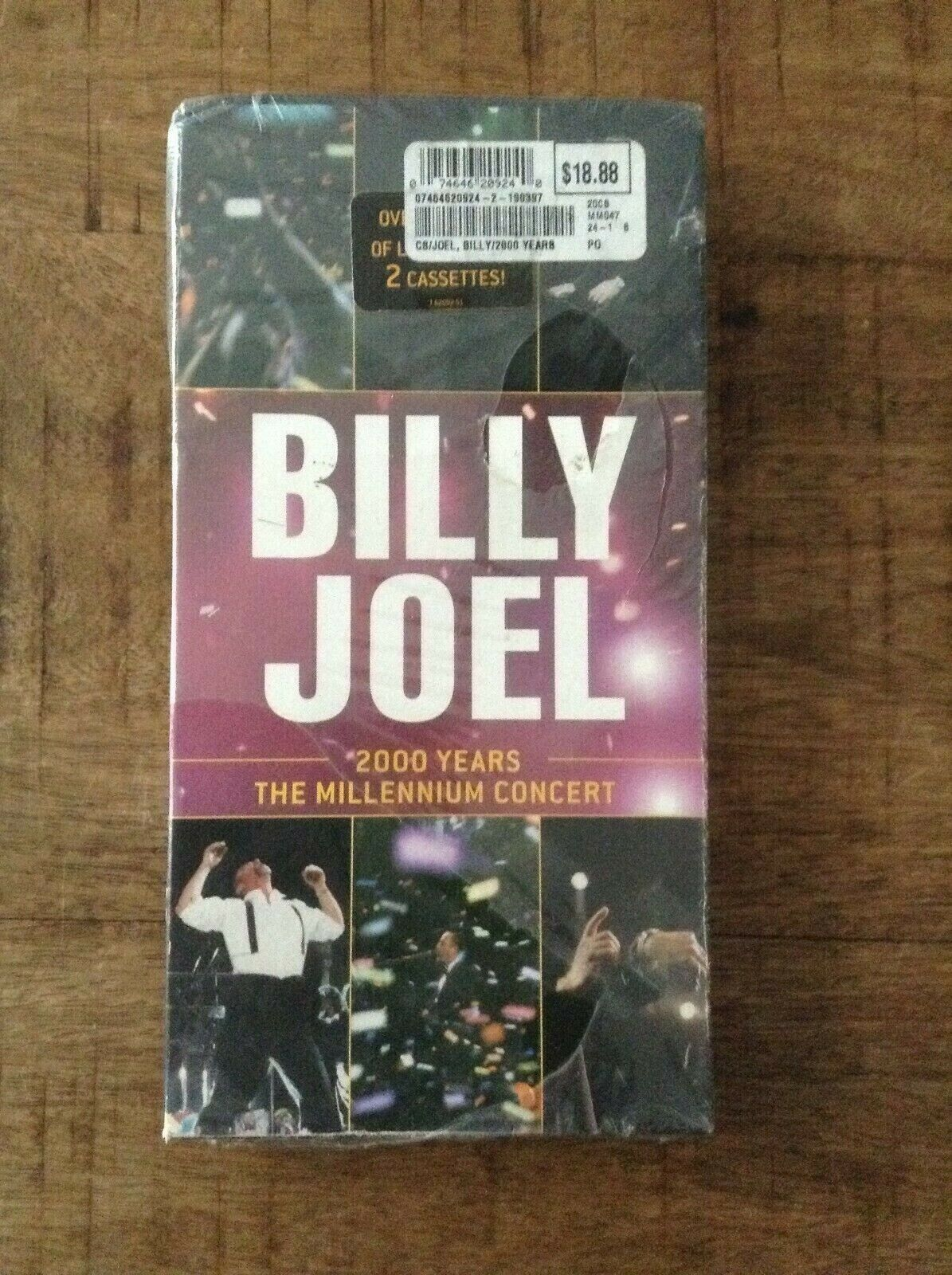 Billy Joel 2000 Years The Millennium Concert 2 Cassettes NEW SEALED LONGBOX - $9.99