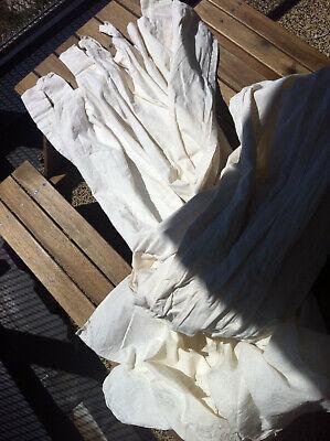 IKEA doppelte Gardine oder Betthimmel Leinen/Baumwolle naturweiß mit Schlaufen