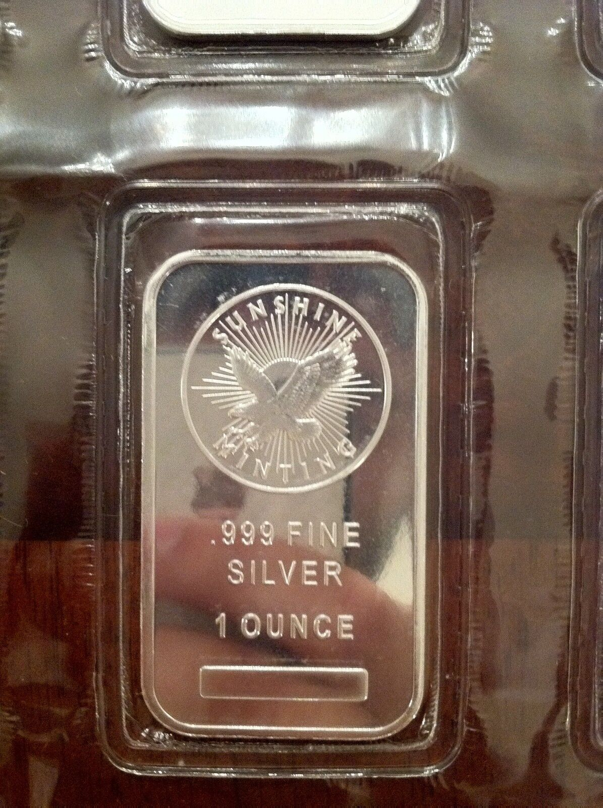 1 Troy Ounce Sunshine Minting Silver Bar 1 oz .999 Fine Silver - Sealed
