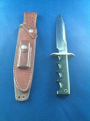 "RANDALL KNIFE Model 16-7"" SS ST ""DIVER"" Black Micarta Finger Grips, Great Piece"