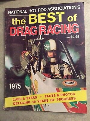 1975 The Best Of Drag Racing NHRA Annual Pictorial Yearbook Program Funny Car