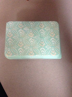Teal Blue/Green aztec printed lunch container with extra containers and ice - Aztec Container