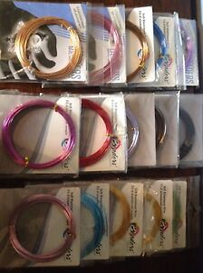 15 Soft Aluminum Wire for Jewellery making (assorted colours)