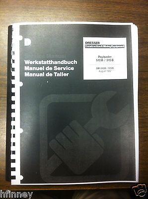 Komatsu 510b 515b Payloader Wheel Loader Service Shop Manual Book Rubber Tire