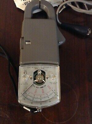 Vintage Aws Snap 6 Voltohm Ammeter Ohm Probe W Case