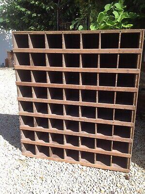 Vintage bank of pine pigeon holes