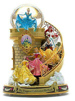 Disney Princess Staircase Musical Snow Globe NEW IN BOX