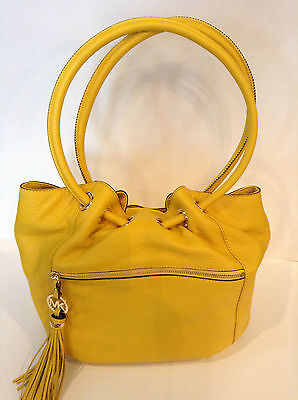 "New Michael Kors Large Ring Tote/Purse/Handbag Citrus Charm Tassel 10""x12.5""x17"""