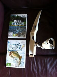 Wii games Reel fishing and Big catch bass fishing 2 with fishing rod Kingston Kingborough Area Preview
