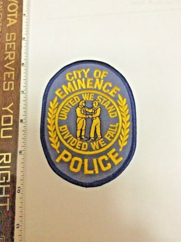 Eminence Kentucky Police Shoulder Patch Henry County 5 man Dept. New Hard to get