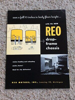 1955 REO drop frame chassis, for heavy-duty trucks sales information.