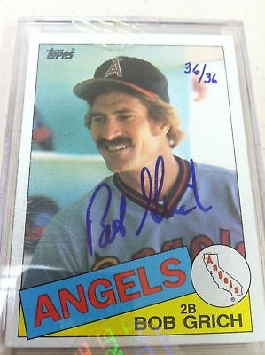 RARE 2004 SIGNATURE EDITION BOB GRICH AUTO HAND NUMBERED #D 36/36 1985