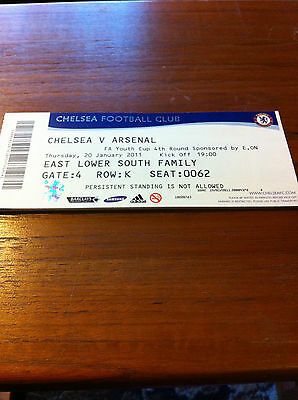 MATCH TICKET - CHELSEA v ARSENAL 2010-11 FA YOUTH CUP