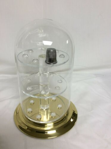 """21 Thimble Glass Dome with W/ Brass Base (no thimbles included) 4"""" x 7"""" #305tpbr"""