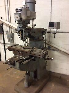 Bridgeport J-Head, Vertical Milling Machine w/ DRO