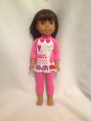 Wellie Wishers Valentine Heart top leggings American Girl 14 doll clothes outfit