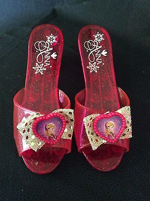 """Disney Frozen Princess Anna Red Slippers W/Picture 7 1/2"""""""