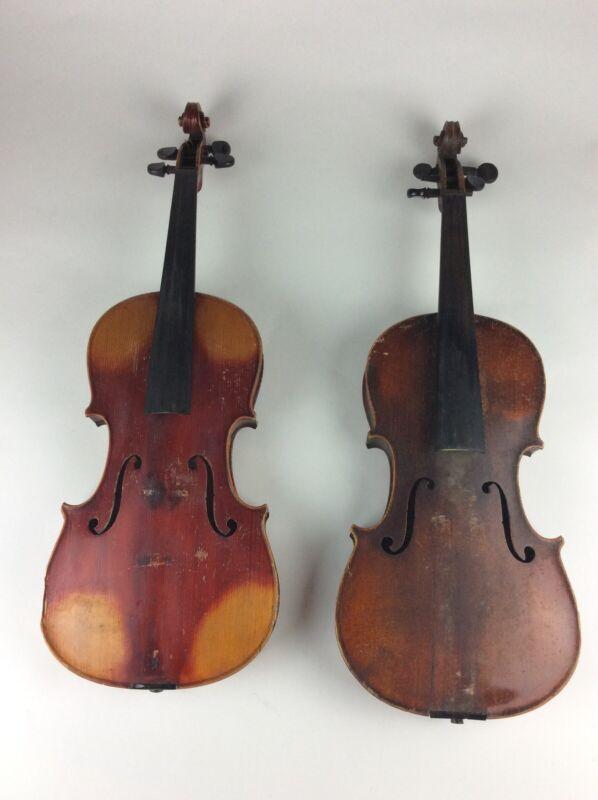 2 Antique maple Violins Stradivarius