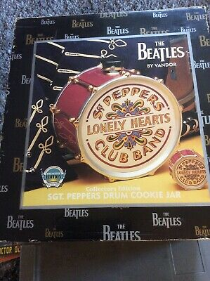 The Beatles Sgt. Peppers Drum Cookie Jar Collectors Edition - By Vandor