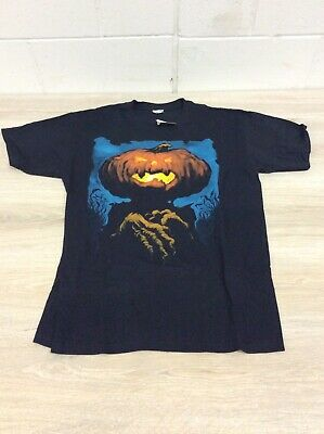 JACK-O-LANTERN scary tee SZ L pumpkinhead Will o the Wisp T shirt NEW NWT