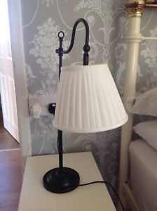 Bedside Lamp Black Wrought Iron
