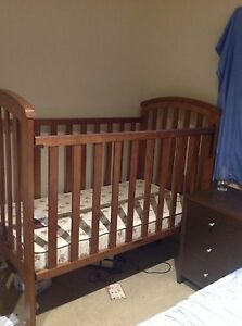 Timber baby cot and toddlers bed with mattress, excellent condition Roxburgh Park Hume Area Preview
