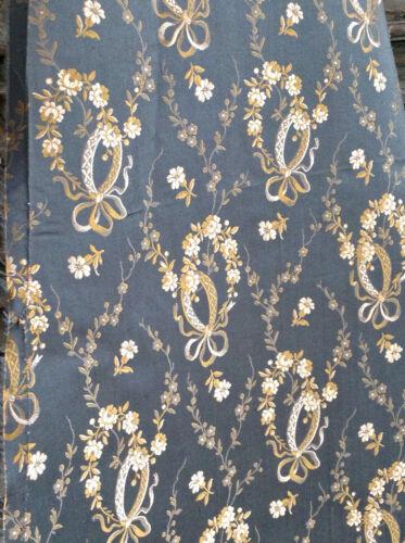 Stunning Antique Navey Silk Victorian Edwardian  Dress Large Fragment Bows Rose