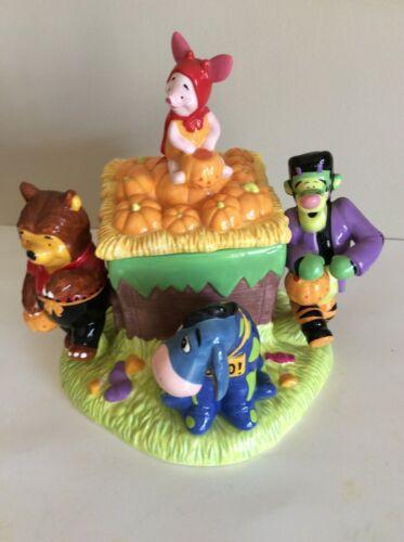 Disney Winnie The Pooh Pumpkin Parade Cookie Jar Halloween