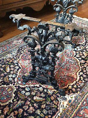 Antique cast iron table or stool base decorative accent piece