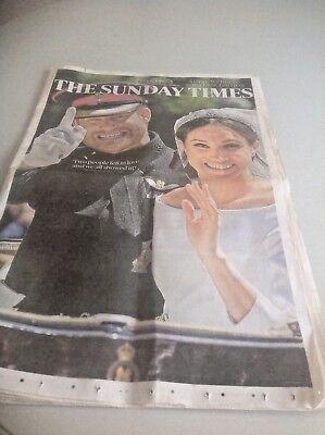 Prince Harry and Meghan Markle Royal Souvenir The Sunday Times Newspaper