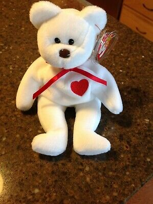 RARE: 1993 Valentino The Bear Ty Beanie Baby with Brown Nose & Multiple Errors! for sale  O'Fallon