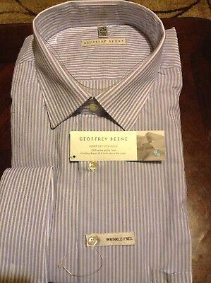 NWT Geoffrey Beene Men's Big And Tall French Cuff Dress Shirt
