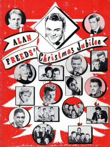 ALAN FREED 1958 CHRISTMAS JUBILEE CONCERT PROGRAM-CHUCK BERRY-EDDIE COCHRAN