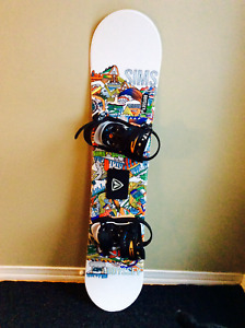 MINT Condition- Kids SIMS Snowboard & Boots & Bindings Combo
