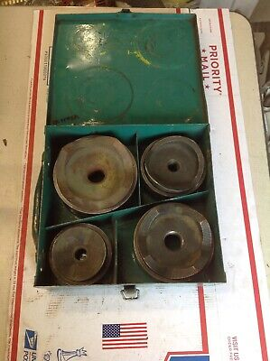Greenlee 7304 Conduit Knockout Punch Set 2-12 To 4 Metal Case 7195a